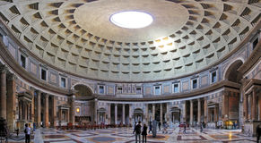 ROME-FEBRUARY 6: The interior of the Pantheon on February 6, 201 Royalty Free Stock Photo