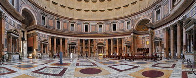 ROME-FEBRUARY 6: The interior of the Pantheon on February 6, 201 Royalty Free Stock Photography