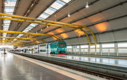 Rome Fiumicino Airport Railway station Stock Image
