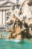 Rome, Fontana del Moro on Piazza Navona Stock Photography