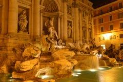 Rome Fontana di Trevi Arkivfoto