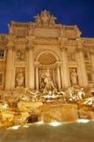 Rome - Fontana di Trevi in evening Stock Photos