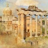 Rome forum stock illustration