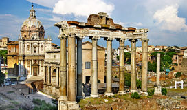 Rome, Forum. Greatest Italian landmarks-Forum,Rome Royalty Free Stock Image