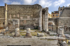 Rome, Forum of Augustus - front view Royalty Free Stock Image