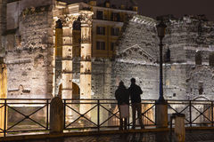 Rome - Forum of Augustus ruins at night. ITALY - Rome - Forum of Augustus ruins at night Stock Photos
