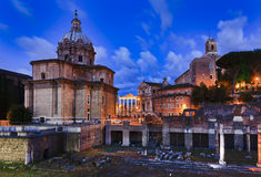 Rome Forum Church Rise Stock Photography