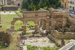 Rome forum Italien Arkivbilder