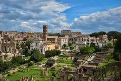 Rome, Forum Romano e Palatino. Rome historic , Italy , Forum Romano e Palatino, Coliseum royalty free stock image