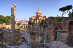 Rome - Forum Romanum. Forum romanum in Rome, hdr image from 1 raw file Royalty Free Stock Image