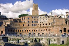Rome forum ruins  Italy antiquity column Royalty Free Stock Image
