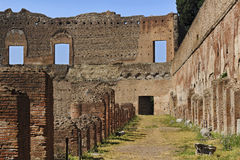 Rome Forum Wall Columns Brick Stock Photography