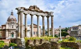 Rome, Forumromano e Palatino Stock Foto