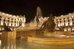Rome - fountain from Piazza della Repubblica Royalty Free Stock Photo