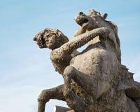 Rome - Fountain - Piazza della Repubblica Stock Photo