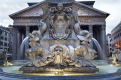Rome - fountain from Piazza della Rotonda Royalty Free Stock Photos