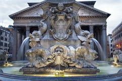 Rome - fountain from Piazza della Rotonda Royalty Free Stock Photos
