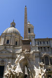 Rome: the fountain in Piazza Navona Stock Image