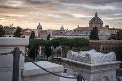 Rome från den Vittorio Emanuele II monumentet royaltyfri foto