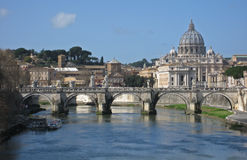 Rome från en bro Royaltyfri Fotografi