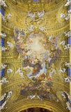 Rome - The fresco on ceiling of church Chiesa del Jesu The Triumph of Name of Jesus Royalty Free Stock Photo