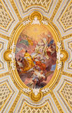 Rome - The fresco in cupola of church Chiesa della Santissima Trinita degli Spanoli Royalty Free Stock Images