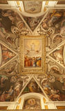 Rome -  fresco from Santa Prassede chuch Stock Photos