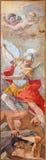 Rome - The fresco of St Michael Defeating Satan  by Giacinto Gimignani (1606 - 1681) in church Chiesa di Santa Maria ai Monti. Royalty Free Stock Photo