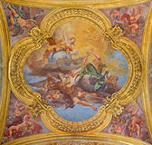 Rome - fresco of virtues of Hope and Truth on little cupola of side nave in church Basilica dei Santi Ambrogio e Carlo al Corso Royalty Free Stock Images