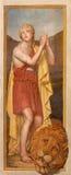 Rome - The fresco of young king David  in church Chiesa della Trinita dei Monti and Chapel of the Deposition. Stock Photo