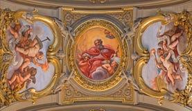 Rome - fresque de ceilng le père de l'éternité par Giacinto Calendrucci (1693) en Di Santa Maria de Chiesa d'église dans Transpo photos stock