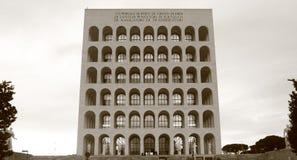 Rome fyrkantiga Colosseum Arkivfoto