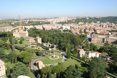 Rome, garden. Green garden with trees from rome royalty free stock photo