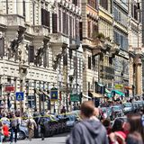 Rome gata Royaltyfri Fotografi