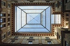 Rome, glass roof Galleries Alberto Sordi stock photos