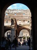 Rome - A glimpse into the Colosseum Stock Photography