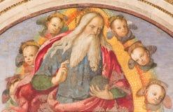 Rome - God de Vader die zijn zegen door Aiuto del Pinturicchio in Basso-de kapel van dellarovere in Basiliekdi Santa Maria del Po Royalty-vrije Stock Afbeelding