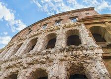 rome Härlig sikt på galleri av den berömda forntida teatern av Marcellus (Teatro di Marcello) Royaltyfria Foton