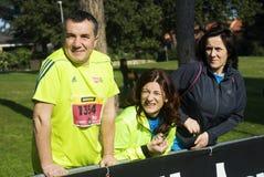 Rome marathon competitors Royalty Free Stock Image