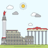 Rome hand drawn vector illustration Stock Images