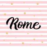 Rome handbokstäver vektor illustrationer