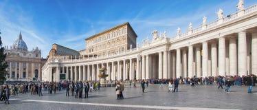 Rome helgon Peters Square 01 Arkivbilder