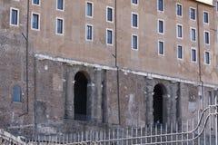 Rome, het detail van het Capitoolpaleis Stock Afbeeldingen