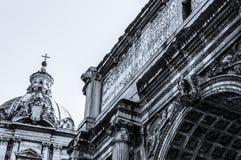 Rome, het Forum Stock Afbeelding
