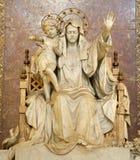 Rome - het maagdelijke standbeeld van Mary Stock Fotografie