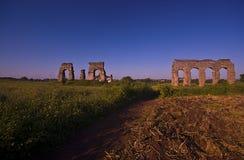Rome: het park van aquaducten Royalty-vrije Stock Afbeeldingen