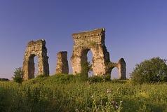 Rome: het park van aquaducten Stock Foto