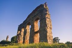 Rome: het park van aquaducten Royalty-vrije Stock Foto's