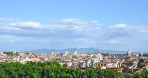 Rome historic center city skyline. As seen from Castel Sant'Angelo royalty free stock photography