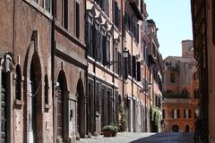 Rome historisk gata Royaltyfri Fotografi